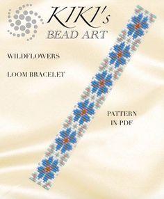 Bead loom pattern  Wildflowers spring themed von KikisBeadArts