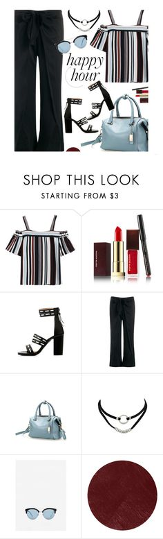 """""""Happy Hour"""" by zaful ❤ liked on Polyvore featuring Kevyn Aucoin, MANGO, Burberry, happyhour and zaful"""