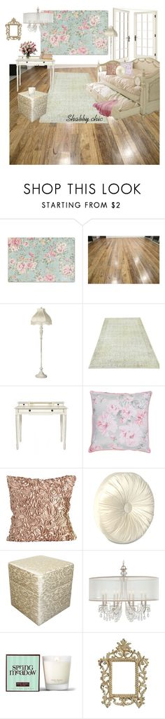 """""""Shabby chic room"""" by marianavillalobos on Polyvore featuring interior, interiors, interior design, hogar, home decor, interior decorating, Universal Lighting and Decor, Pieces, Eastern Accents y Henri Bendel"""