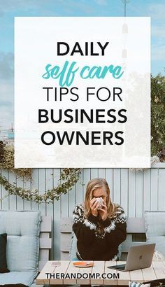 Daily self care tips for business owners: how to stay healthy while running an online business? Your business success starts with your wellbeing! // The Random P -- Looking for a way to make money online? Home Based Business, Business Tips, Business Women, Online Business, Business Motivation, Business Journal, Business Attire, Business Opportunities, Creative Business