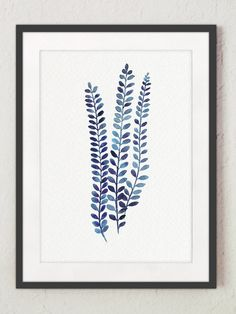 Hey, I found this really awesome Etsy listing at https://www.etsy.com/se-en/listing/264389174/indigo-fern-watercolor-painting-leaves