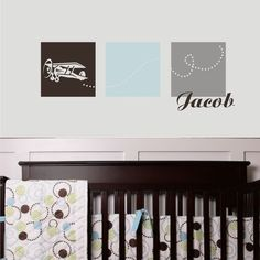 plane - airplane decal - lola decor - etsy - great addition to the plane themed bedroom!