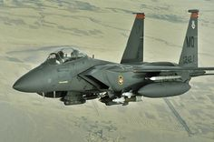 F-15E Strike Eagle over Afghanistan.