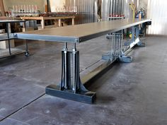 Post Industrial Conference Table | Vintage Industrial Furniture