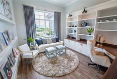 Ideas home office sofa layout for 2019 Sofa Layout, Desk Layout, Layout Book, Office Sofa, Guest Room Office, Office Den, Office With Couch, Office Setup, Office Table