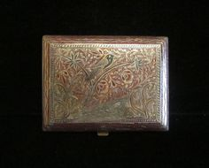 Vintage 1940s Cigarette Case WW2 Trench Art by classiccollector