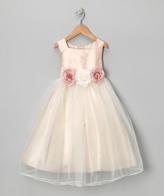 Look at this Kid's Dream Dusty Rose Silk Dress - Toddler & Girls on today! Toddler Girl Dresses, Little Girl Dresses, Girls Dresses, Toddler Girls, Infant Toddler, Blush Flower Girl Dresses, Cute Outfits For Kids, Bridesmaid Dresses, Wedding Dresses