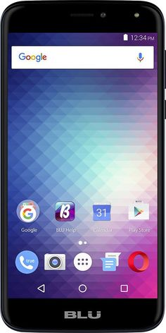 Unlocked BLU - Life Max 4G with 16GB Memory Cell Phone - Dark Blue