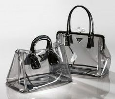 6f818cb6dc7e prada-transparent-bag Punge Og Tasker, Prada Håndtasker, Mode Tilbehør,  Modeller