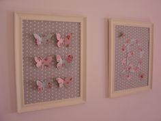 Quadro decorativo para quarto feminino, DIY,