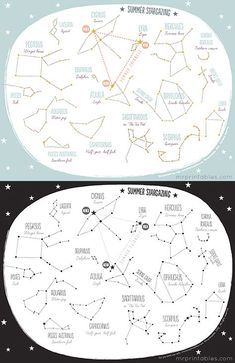 Constellations for Kids Worksheets Printable Summer Constellation Map Mr Printables Mr Printables, Free Printable, Worksheets For Kids, Activities For Kids, Moon Activities, Space Activities, Constellation Craft, Colegio Ideas, Maps For Kids