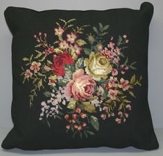 Needlepoint Taspestry Cushion Cover-hand stitched Wool on Canvas ...