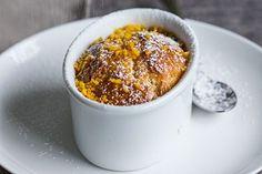 Sour cream lemon syrup cakes