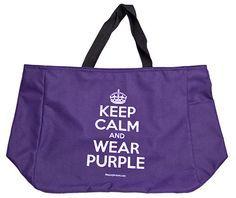 Keep Calm and Wear Purple Tote Bag