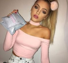 Shop Women's American Apparel Pink size S Crop Tops at a discounted price at Poshmark. Description: Brand new American apparel Pink Choker Top in size small . Danielle Campbell, Sophia Mitchell, Chica Cool, Tumblr Girls, Mannequins, Pretty People, Britney Spears, American Apparel, Grunge
