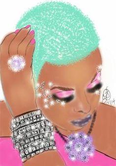 Beautiful Colors on Beauty Black Love Art, Black Girl Art, My Black Is Beautiful, Black Girls Rock, Art Girl, Beautiful Artwork, Beautiful Pictures, African American Art, African Art