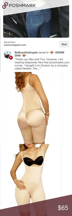 9282254693 Vedette Full body Shapewear • Worn One time • Beige Color • As recommended  by Jennifer Stano • Originally priced at  97.00 • Size 36 which is a medium  Pants