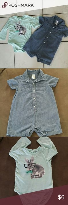 Bundle baby boy clothes 2 bottom down, if you have any questions feel free to ask, I offer bundle discounts & reasonable offers are welcome???? Bottoms Jumpsuits & Rompers