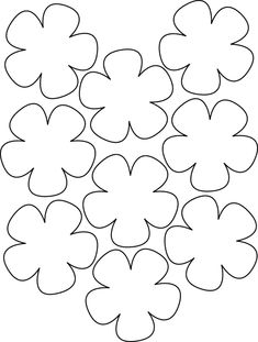 Printable Flower Templates - AZ Coloring Pages Image detail for -Hawaiian Paper Flowers Lei Hawaiian template Crafts,Actvities and Worksheets for Preschool,Toddler and Kindergarten.Lots of worksheets and coloring pages. Felt Flowers, Diy Flowers, Fabric Flowers, Paper Flowers, Small Flowers, Felt Crafts, Diy And Crafts, Crafts For Kids, Paper Crafts