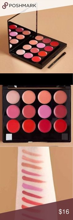 ISH Lip statement palette NWT Pucker up ladies.  This palette features 11 intensely pigmented shades and one balm that will give your lips a beautiful pop of color.  Enriched with rose extract, shea butter, jojoba oil, olive oil and aloe vera you can mix and match for endless color combinations.  All my items come from a smoke free/pet free home.  Ask all questions before buying.  Bundle discount given so check out my closet😊411 iSH Makeup Lipstick