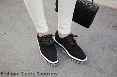 Platform Suede Sneakers #shoes #sneakers #koreanfashion #women #style