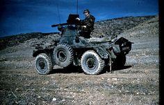 Opération dans la région de Batna  sur auto-mitrailleuse Ferret Daimler MK 2.  Photo de Jean Cibille, Algerian war, pin by Paolo Marzioli