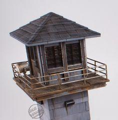 Walking Dead Prison, The Walking Dead, Building Design, Bird Feeders, Gazebo, Outdoor Structures, Towers, Outdoor Decor, House