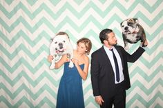 Love this backdrop! JP Elario Photo Booth featuring drop it MODERN's MODERN Mint photography backdrop. Mint chevron.