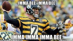 NFL meme: Roethlisberger. Oh my gosh. I love my Steelers, but okay...even I think this every time they wear the throwback jerseys. Haha! |Humor||LOL||Funny memes||NFL memes||Football humor||Sports funny|