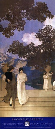 "A Florentine Fete (1910–1916), The Garden of Opportunity panel (detail) by Maxfield Parrish, 1913. A Florentine Fete is Parrish's magnum opus, consisting of 18 murals, each 10' 8"" tall"
