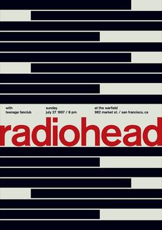 Radiohead [Swissted poster] - Stereotype design c/o Print-Process