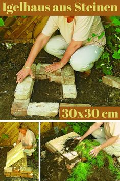 Build Hedgehog House- Igelhaus bauen From simple bricks you can build a cozy apartment for a hedgehog. We show you step by step how it works! Backyard Fences, Garden Doors, Vegetable Garden Design, Diy Backyard, Winter Garden, Garden Plants Vegetable, Garden Design, Backyard, Garden Projects