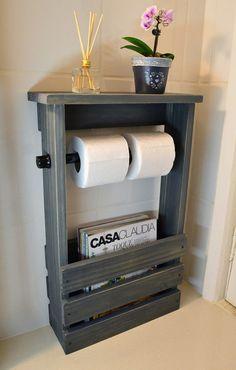 Diy Bathroom Decor, Bathroom Furniture, Small Bathroom, Diy Home Decor, Woodworking Projects Diy, Diy Wood Projects, Home Projects, Diy Casa, Diy Pallet Furniture