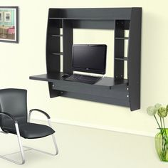 Floating Desk Wall Mounted Office Workstation Computer Table Study Storage Rack