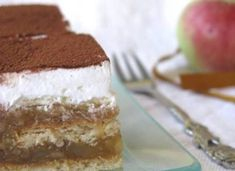 Apple Recipes, Cake Recipes, Sweet And Salty, Cream Cake, No Bake Cake, Just Desserts, Sweet Tooth, Deserts, Cooking Recipes