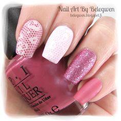 Nail Art by Belegwen: OPI Not So Bora Bora-Ing Pink, Essie Go Ginza, Depend Primrose and matte top coat