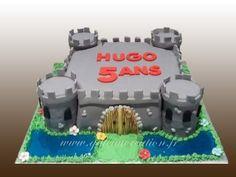 Gâteau d'anniversaire château fort