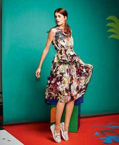 BurdaStyle | Gathered A-Line Skirt (07/2015) | Pattern #118