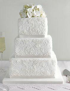 Lace Wedding Cake http://www.weddingheart.co.uk/marks-and-spencer---wedding-cakes.html