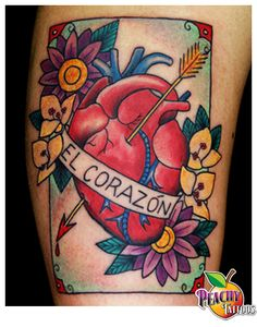 Peachy Tattoos - Peachy Tattoos - Mexican Loteria Card Tattoo