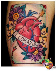 Peachy Tattoos - Peachy Tattoos - Mexican Loteria CardTattoo