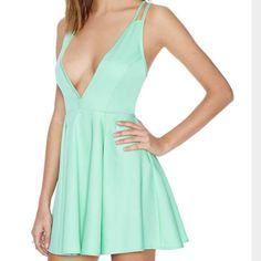 """Nasty Gal Live it Up Dress Mint Excellent used condition Nasty Gal Live it Up Dress in Mint. Size Small. Side zipper. 26"""" waist. Bust & hips are open. No trades, offers welcome. Nasty Gal Dresses Mini"""