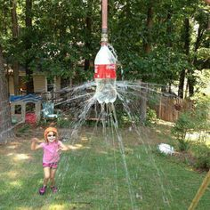 Genius red neck sprinkler...and it only costs five cents!