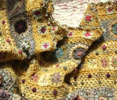 Granny square blankets that look like rugs, awesome inspiration.