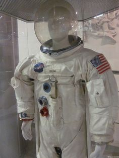 Another highlight at the Museum of Cosmonautics is this original spacesuit of Michael Collins, who stayed behind in the command module while his crew mates Armstrong and Aldrin became the first people on the Moon in Gorgeous Ladies Of Wrestling, Space Suits, Michael Collins, Apollo 11, Space Program, Moscow Russia, Astronauts, Greatest Adventure, Life Photo