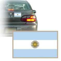 argentina flag bumper sticker