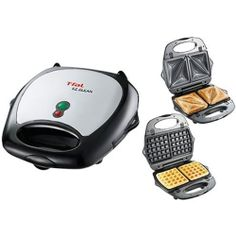 T-Fal - a convenient and space saver combo sandwich and waffle maker with interchangeable plates