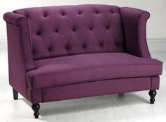 """Amazon.com: Morgan Settee, 37.5""""Hx56.5""""W, PURPLE: Home & Kitchen.      I would love this at my dining room table."""