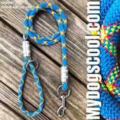 New Kingfisher Climbing Rope Dog Leash Handmade in USA for medium to extra large dogs. Equipped with a inch marine grade 316 stainless steel clip, or Upgrade to an Optional Carabiner, or Carabiner & Swivel. Diferent lengths, and Handle are also available. Big Dogs, Large Dogs, Rock Climbing Rope, Rope Dog Leash, Adventure Gear, Panama City, Kingfisher, Animal Kingdom, Friendship Bracelets