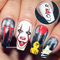 Spooky Halloween Coffin Nails! #halloween #halloweennails #halloweennailart  #blacknails